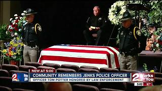 Community remembers Jenks officer - Video