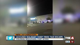 NEW VIDEO: Accused Walmart thief tries taxi escape