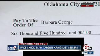 CALL 6: Scammers target Craigslist sellers with fake checks - Video