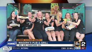 Good morning shout-out from Magerk's Pub & Grill in Bel Air - Video