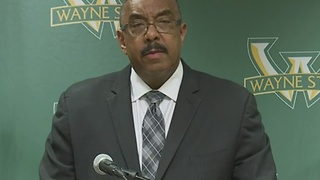 Wayne State University officials hold press conference after officer shot - Video