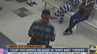 Tempe couple finds burglary suspect in home holding their baby with his pants sagged down - Video