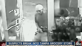 Suspects break into Tampa grocery store - Video