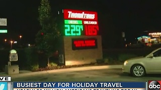 Wednesday is the busiest day for holiday travel - Video