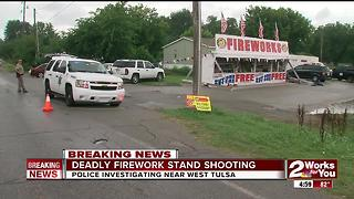 Deadly firework stand shooting - Video