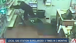 Lee's Summit gas station burglarized three times in three months - Video