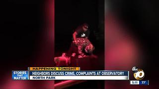 Neighbors discuss crime, complaints at The Observatory - Video