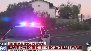 Shooting on side of SR-94 freeway - Video