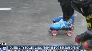Queen City Roller Girls prepare for 2017 season opener! - Video
