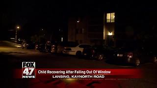 Boy injured in fall from third story window