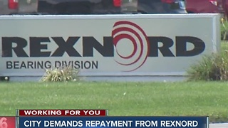Indianapolis demands repayment of $380k from Rexnord - Video