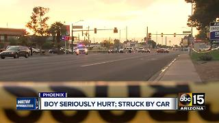 Child seriously hurt after hit by car in Phoenix - Video