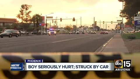 Child seriously hurt after hit by car in Phoenix