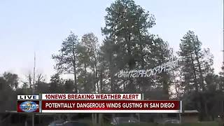 Parts of San Diego county experiencing high winds - Video