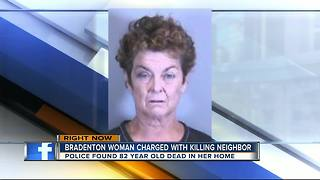 Woman charged with murdering her 82-year-old Bradenton neighbor - Video