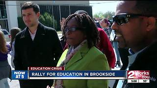 International visitors at rally for education in Tulsa - Video