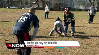 Milwaukee family 'Turkey Bowl' tradition predates Super Bowl - Video