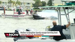 One transported to hospital after sailboat fire in St. Petersburg - Video