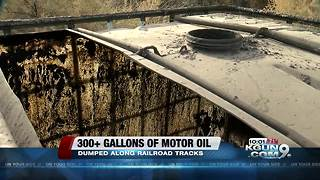 Oil drum spill clogs traffic near Cortaro, I-10 - Video