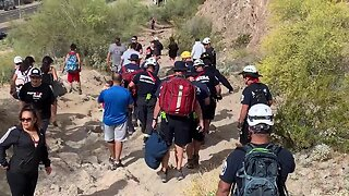 Woman rescued in east Mesa after hurting her ankle