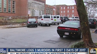 Baltimore logs 3 murders in first 3 days of 2017 - Video