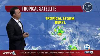 Tropical Storm Beryl - Video