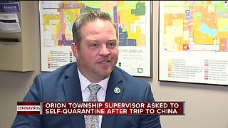 Orion Township supervisor asked to self-quarantine after trip to China