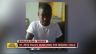 11-year-old St. Petersburg boy missing after leaving Bay Point Middle School on Tuesday - Video