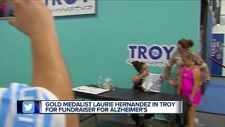 Gold medalist Laurie Hernandez in Troy for fundraiser for Alzheimer's - Video