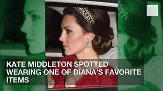 Kate Middleton Spotted Wearing One of Diana's Favorite Items - Video