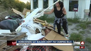 Homeowners say builders didn't pay dumping bills