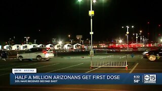 Half a million Arizonans get first dose of COVID vaccine