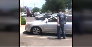 Man rescues dog from hot car