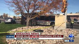 3 injured, 1 dead in separate RTD bus crashes, including one into Denver home