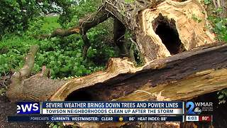 Close calls after sudden storm rips through Towson - Video