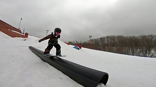 This Is Snow Laughing Matter: Five-year-old Girl Is A Skilful Snowboarder