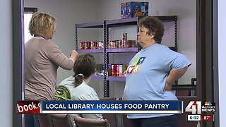 Local library houses food pantry