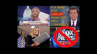 Fox News cut away from a news conference held by White House press secretary Kayleigh McEnany