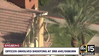 Officer-involved shooting at Phoenix motel - Video
