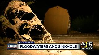 Monsoon storms create havoc in Queen Creek, Apache - Video