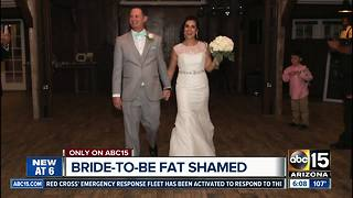 Bride-to-be fat shamed at Valley dress store - Video
