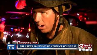 North Tulsa home destroyed by large fire overnight - Video