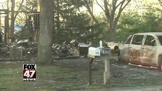 Fire completely destroys house in Potterville