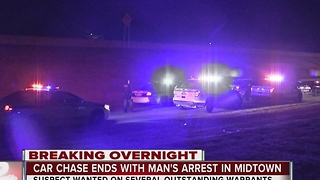 Man arrested after leading chase in midtown