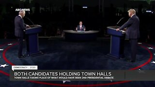 Both candidates holding town halls Thursday to sway voters