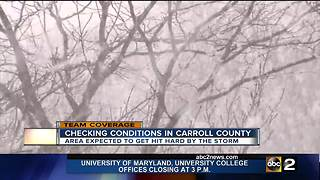 Carroll County prepping for 8-18 inches of snow through Wednesday - Video