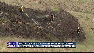 Officials issue reminder after foothills fire