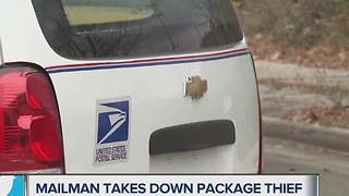 Mailman takes down package thief in Milwaukee - Video