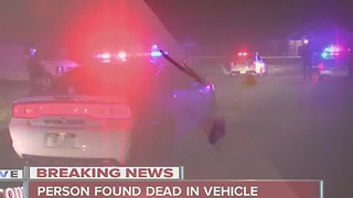 Person found dead in vehicle in Lawrence - Video