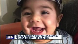 27-year-old mother in custody in baby's death - Video
